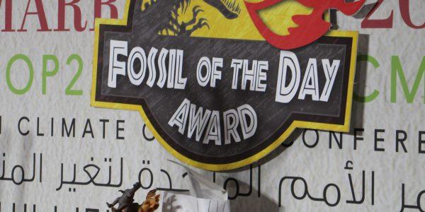 Preisverleihung des Fossil of the Day Awards and Deutschland