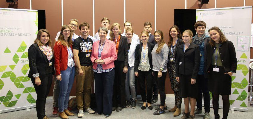 Barbara Hendricks trifft in Marrakesch JugendvertreterInnen
