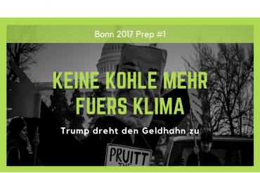 Keine Kohle mehr für's Klima – Trump dreht den Geldhahn zu