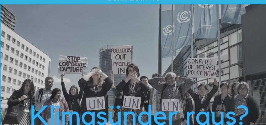 Mit Klimasündern an einem Tisch? — Interessenkonflikte im klimapolitischen Prozess