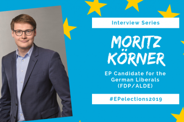 #EP2019: Interview with Moritz Körner, Candidate for the German Liberals (FDP) in the EU-Elections