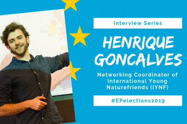#EP2019: Interview with Henrique Goncalves, Member of International Young Naturefriends