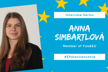 #EP2019: Interview with Anna Simbartlová from You&EU