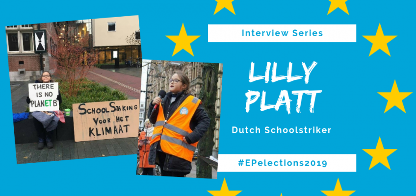 #EP2019: Interview with Lilly Platt, 11-year-old Dutch Schoolstriker