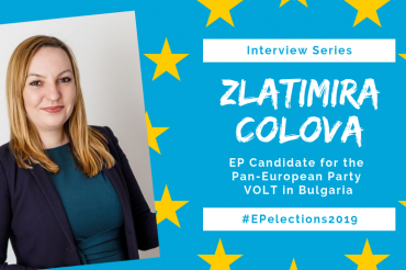 #EP2019: Interview with Zlatimira Colova, Candidate of the Pan-European Party VOLT in Bulgaria for the EU-Elections