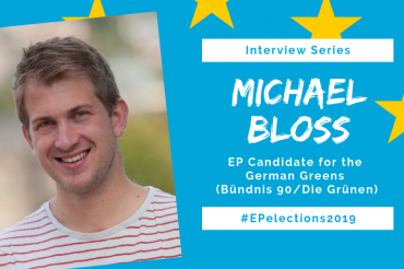 #EP2019: Interview with Michael Bloss, Candidate of the German Greens in the EU-Elections