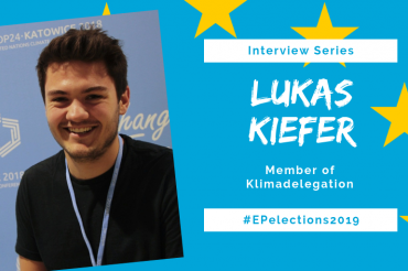 #EP2019: Interview with Lukas Kiefer, Member of Klimadelegation