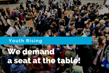 #YouthRising and insisting on a seat at the table